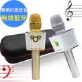 KKL卡酷兒重低音雙喇叭無線藍芽行動KTV麥克風(K8)台灣製造閃耀金