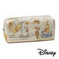 【日本進口正版】小熊維尼 Winnie the Pooh 帆布 筆袋/收納包/化妝包 迪士尼 Disney