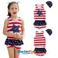 【Swim Fun】女童泳衣條紋星分體泳裝#3