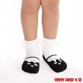 WHY AND 1/2 mini 普普熊娃娃鞋款短襪 防滑襪 多色可選01黑色