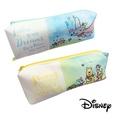 【日本進口正版】迪士尼卡通系列 雙層 筆袋/收納包/化妝包 Disney -小熊維尼款