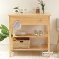 CiS自然行實木家具 電器櫃-碗盤櫃-雜貨櫃-置物櫃W90cm(水洗白色)