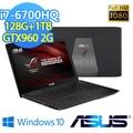 華碩GL552VW-0071A6300HQ 15.6吋戰鬥電競筆電【Intel Core i5-6300HQ / 4GB記憶體/ 1TB硬碟/ Windows 10】