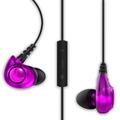 Astrotec/阿思翠 GX20入耳式監聽耳機 iPhone/android通用線控麥克風(紫色)
